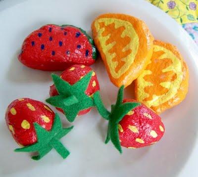 Поделки фрукты из соленого теста: клубника и лимоны