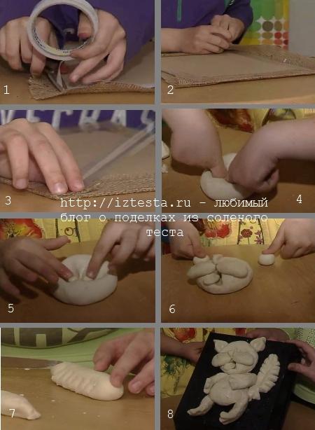 Как сделать кота из соленого теста