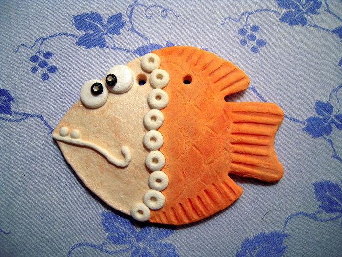 Красивые рыбы из соленого теста