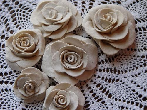 Цветы розы своими руками из соленого теста