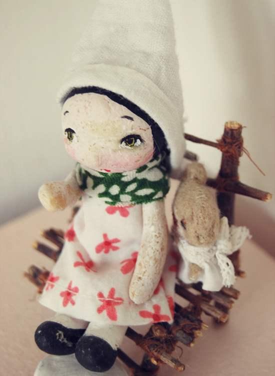 Фото красивой куклы из соленого теста