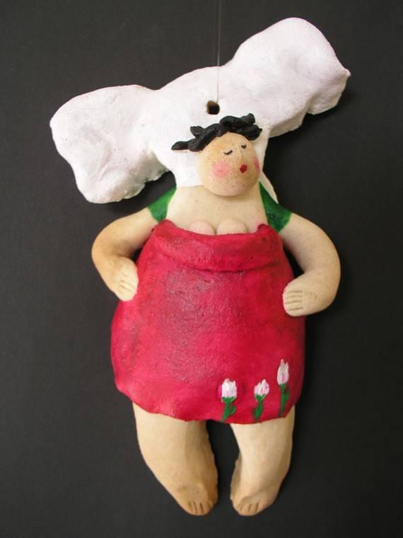 Поделка кукла-ангел из соленого теста, фото