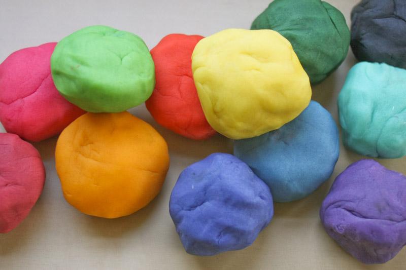 Как сделать соленое тесто цветным
