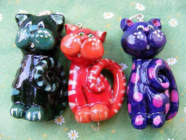 Поделки коты из соленого теста, фото