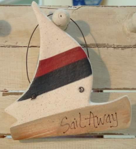 Фото поделки: декоративный кораблик из соленого теста для декора в доме