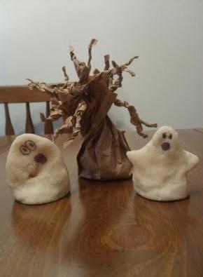 Лепка из соленого теста поделок привидений